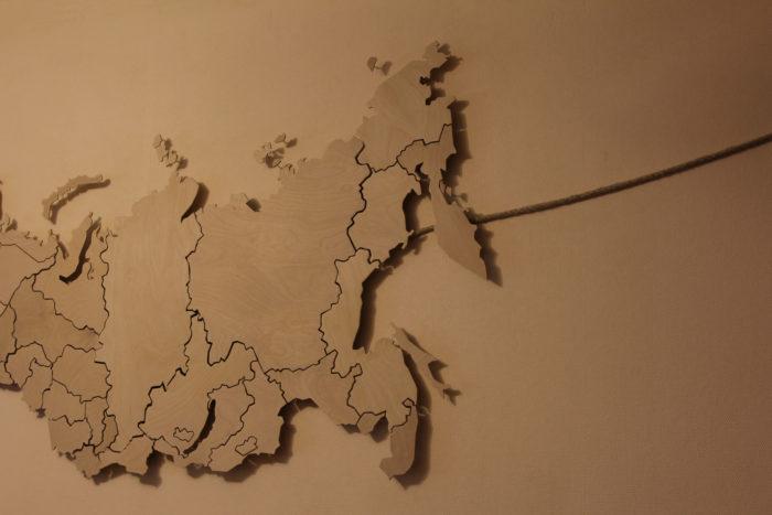 Карта России из фанеры
