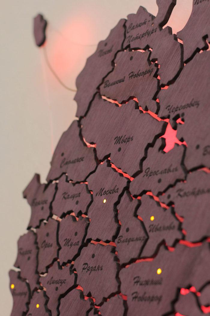 Карта России центральная часть