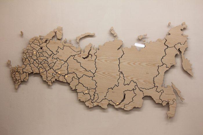 Карта России из Ясеня