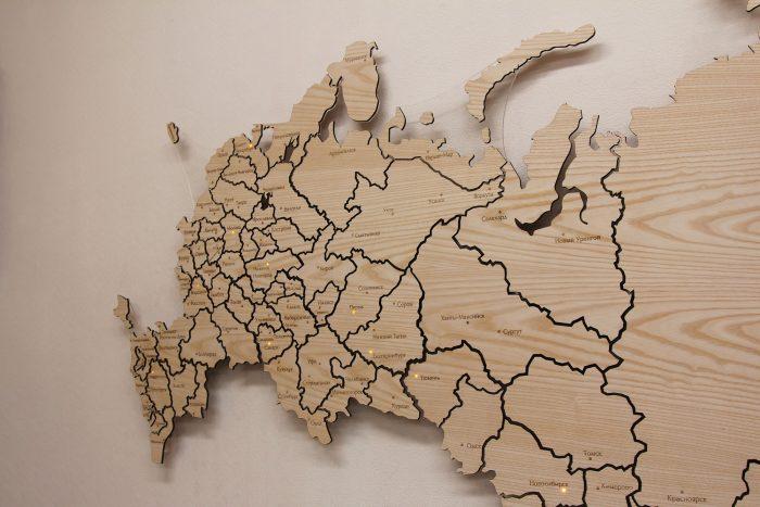 Карта России из Ясеня справа