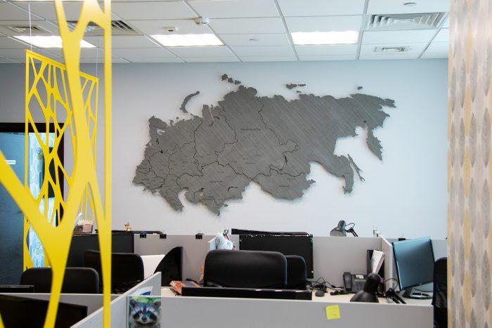 Карта России и ближнего зарубежья из Дуба 7s