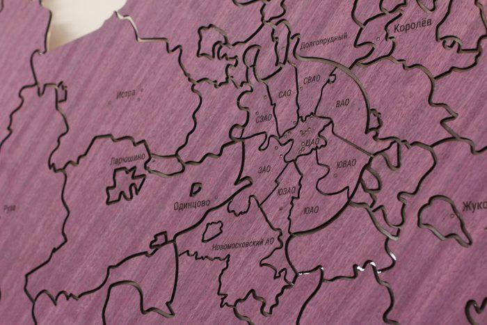 Карта Московской области из амаранта