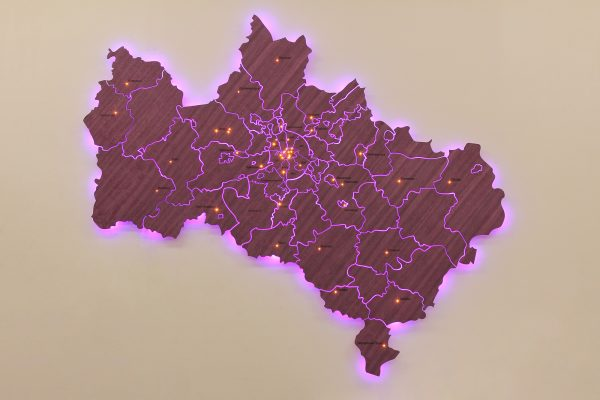 Деревянная карта Московской области