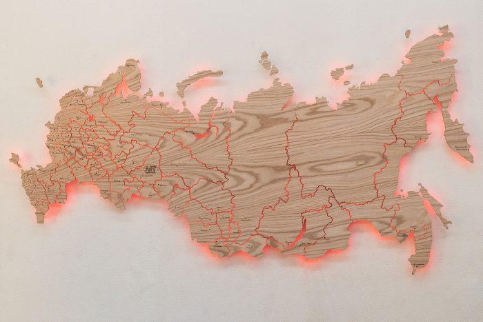 Карта России из Дуба