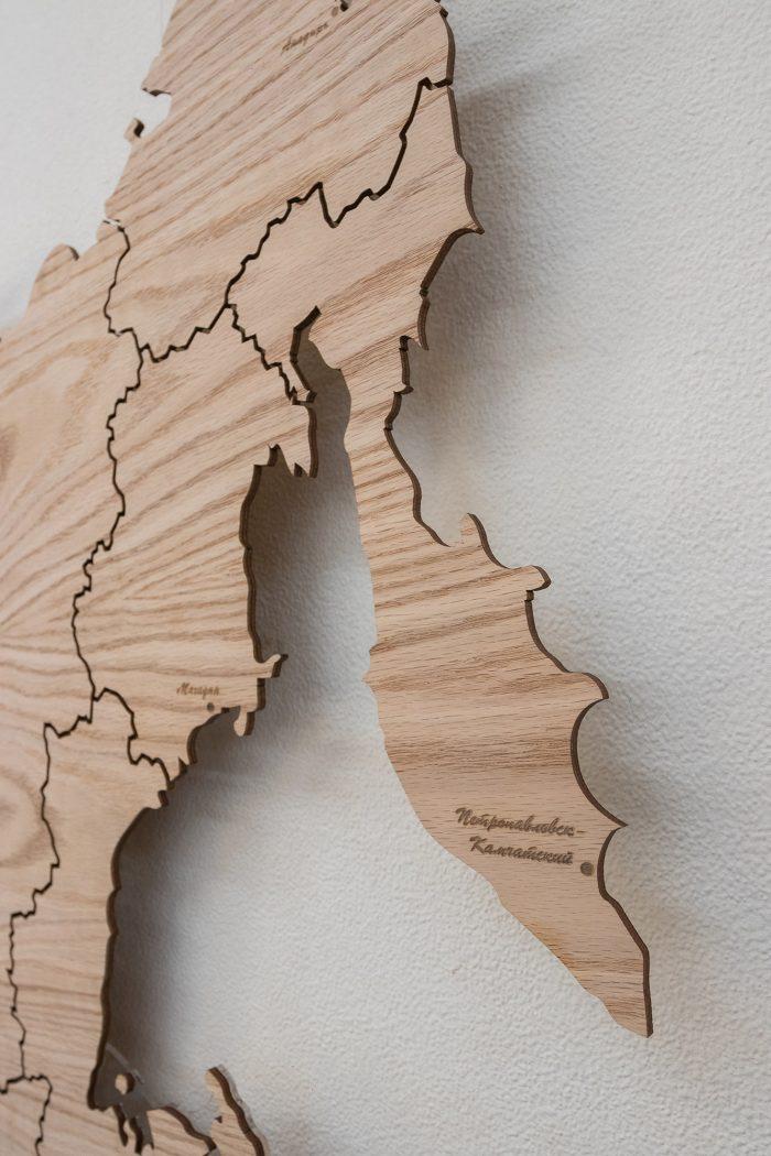Карта России из Дуба Камчатка