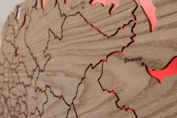Карта России из Дуба Салехард
