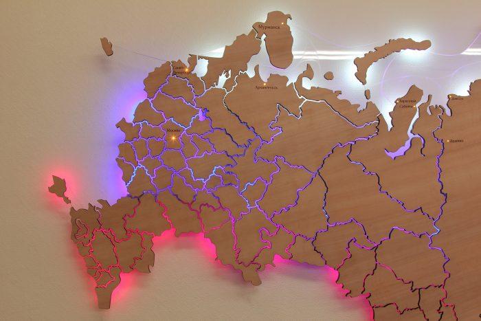 Европейская часть карты России