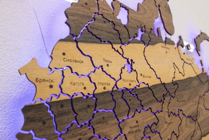 Карта России Смоленск