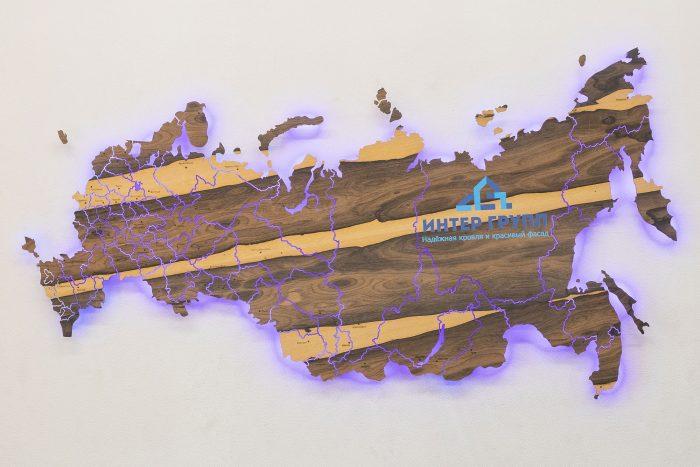 Карта России из Зирикота с подсветкой