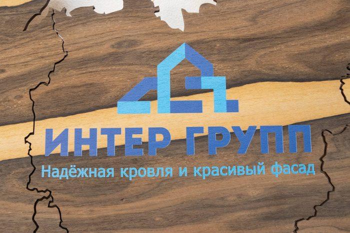 Карта России из дерева логотип компании
