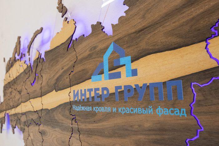 Карта России из дерева с УФ-печатью