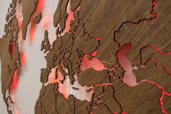 Карта мира из Имбая