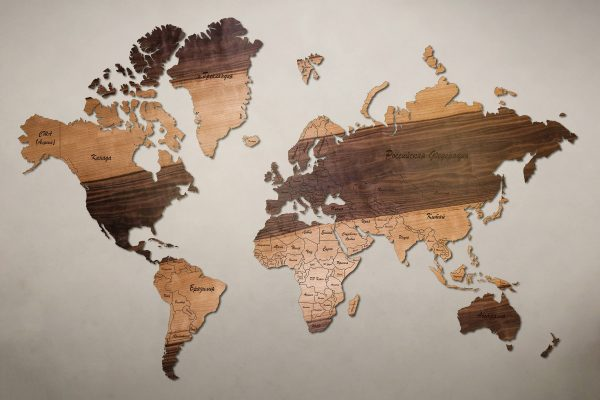 Рендер карты мира из грисарда мореного