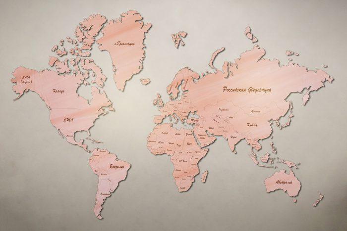 Рендер карты мира из груши