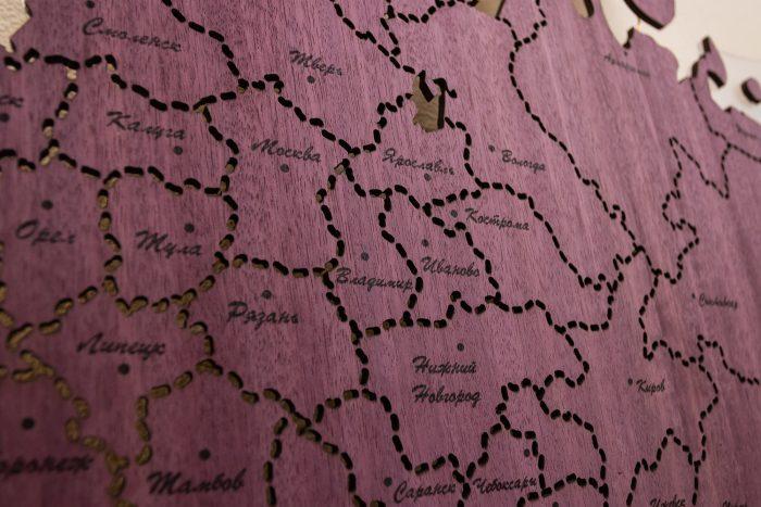 Центральная часть карты России