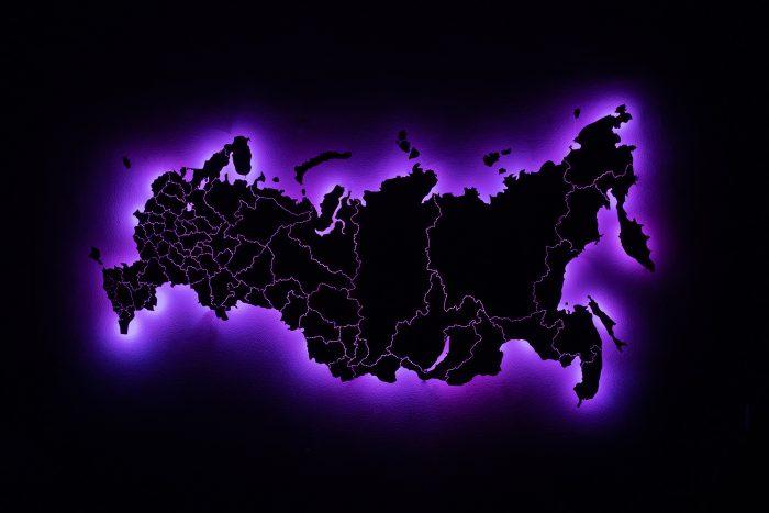 Карта России со светодиодной подсветкой