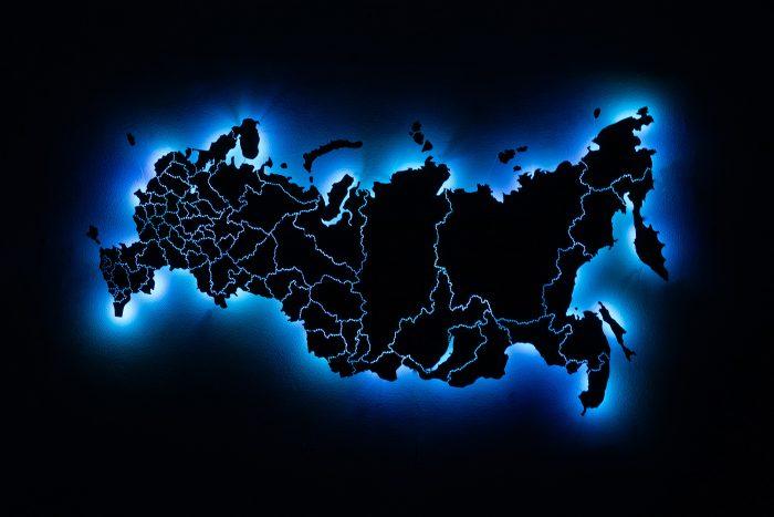 Карта России с подсветкой