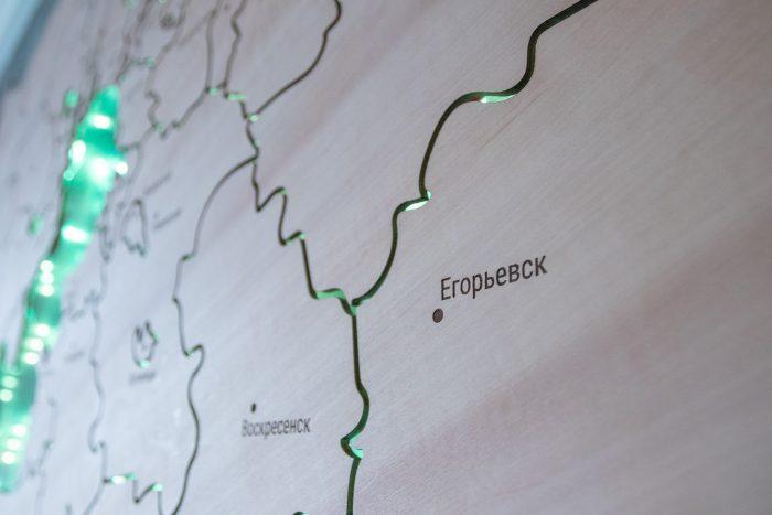 Деревянная карта МО Егорьевск