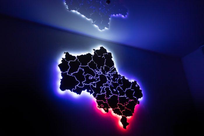 Карта московской области с подсветкой триколор