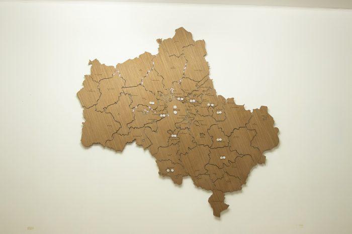 Настенная магнитная карта МО