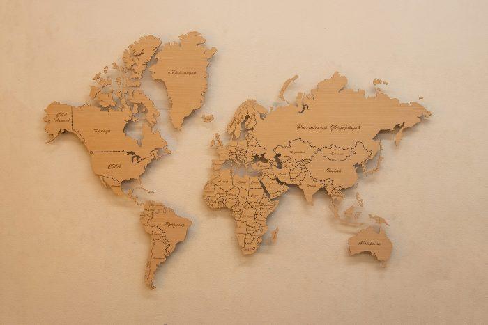 Деревянная карта мира из Анегри 592 QW