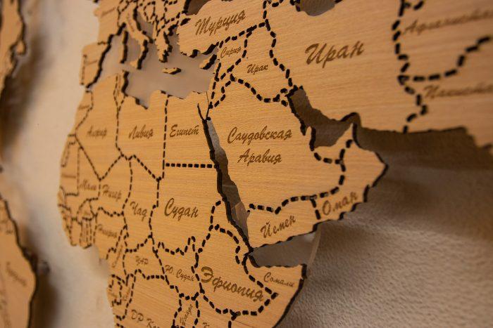Деревянная карта мира из Анегри 592 QW, ближний Восток