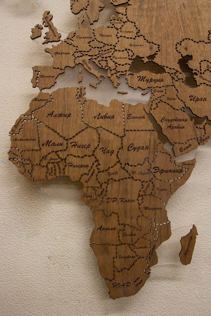 Настенная карта мира из Даниэллы, Африка