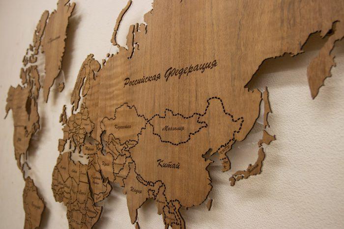 Деревянная карта мира из Даниэллы, Азия