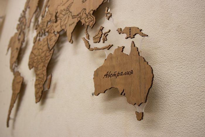 Карта мира из Даниэллы, Австралия