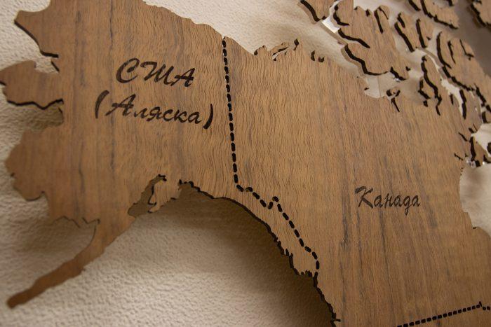 Карта мира из Даниэллы, Канада