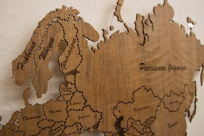 Деревянная карта мира из Даниэллы, восточная Европа