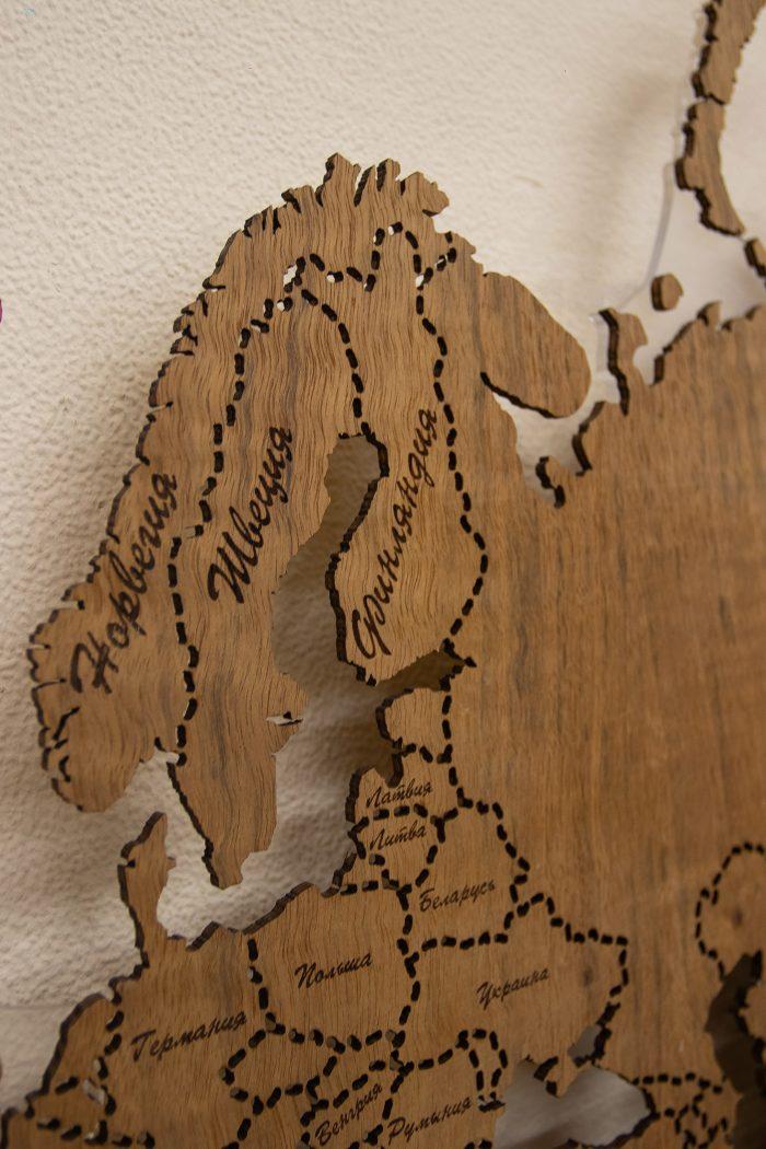 Деревянная карта мира из Даниэллы, Скандинавские страны