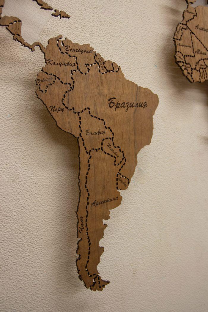 Настенная карта мира из Даниэллы, Южная Америка