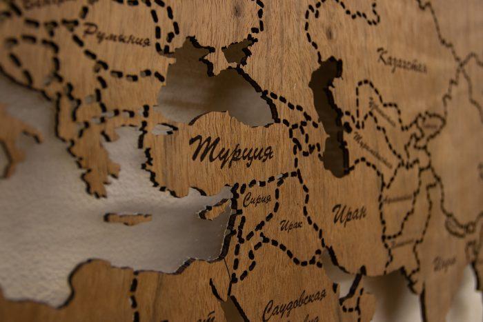 Деревянная карта мира из Даниэллы, ближний Восток