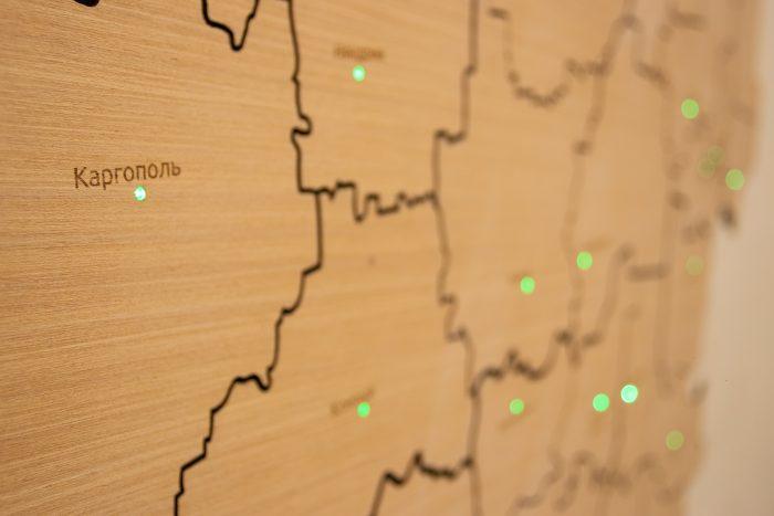 Деревянная карта Вологодской области