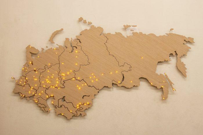 Деревянная карта СНГ