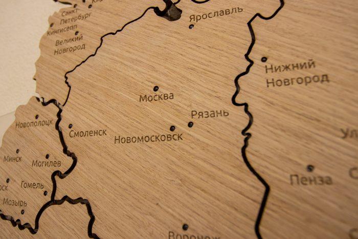 Деревянная карта СНГ Центральный окрун
