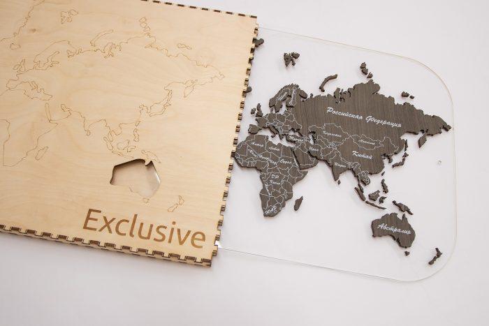 Карта мира с подарочной коробкой