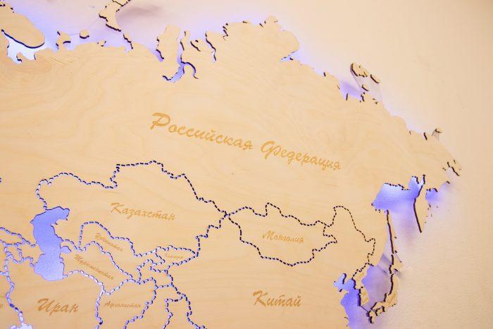 Карта мира из Березы. Границы государств выполнены штриховой линией. Россия