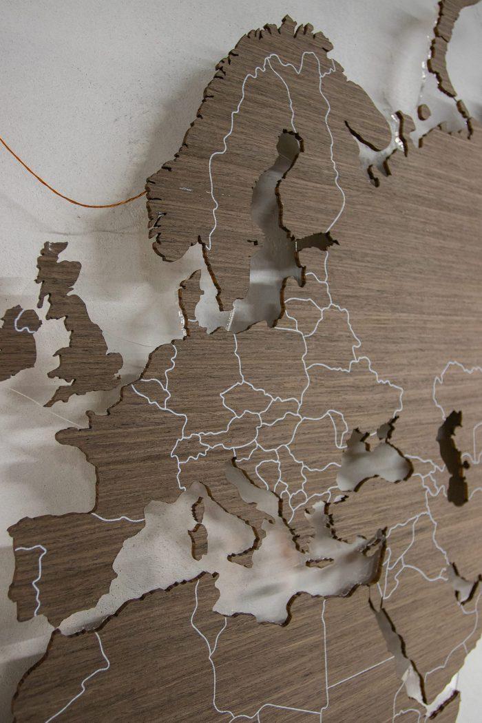 Карта Мира с цельными материками. Норвегия
