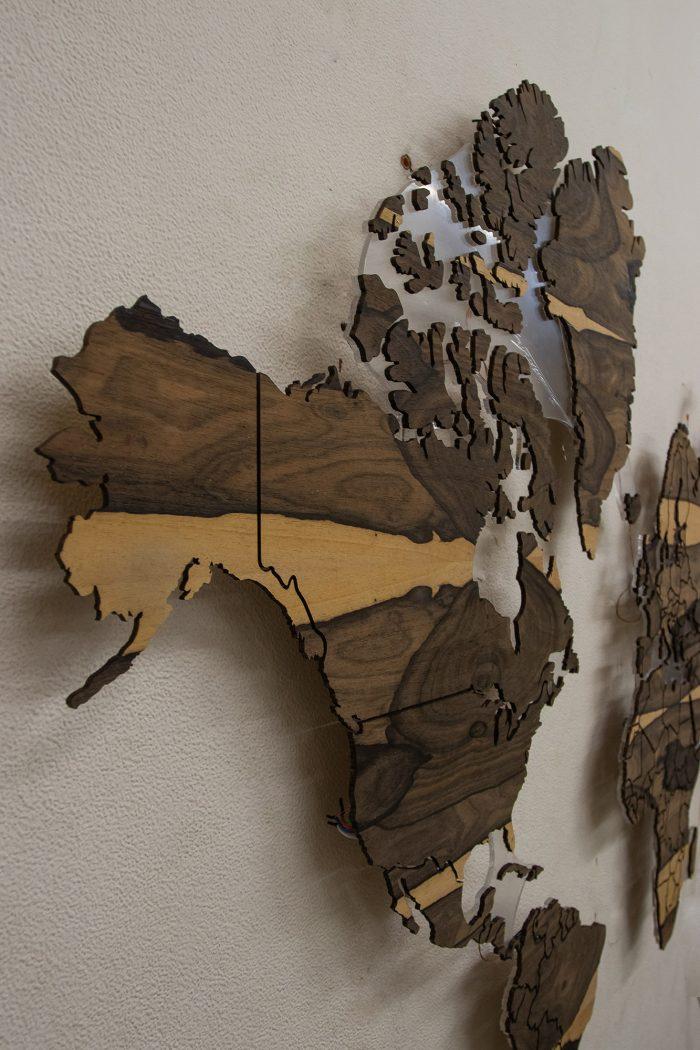 Деревянная карта Мира из Зирикота. Северная Америка.