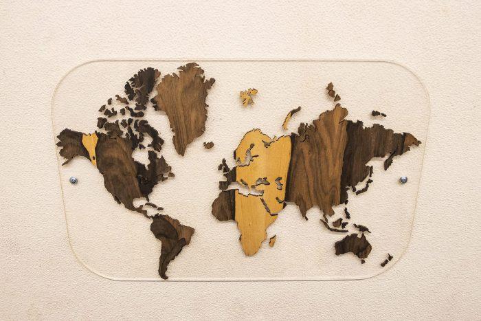 Настенная Подарочная карта мира. Россия