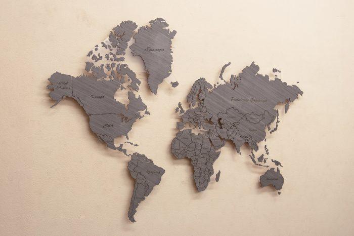 Настенная Карта Мира из Дуба 7S. Мир