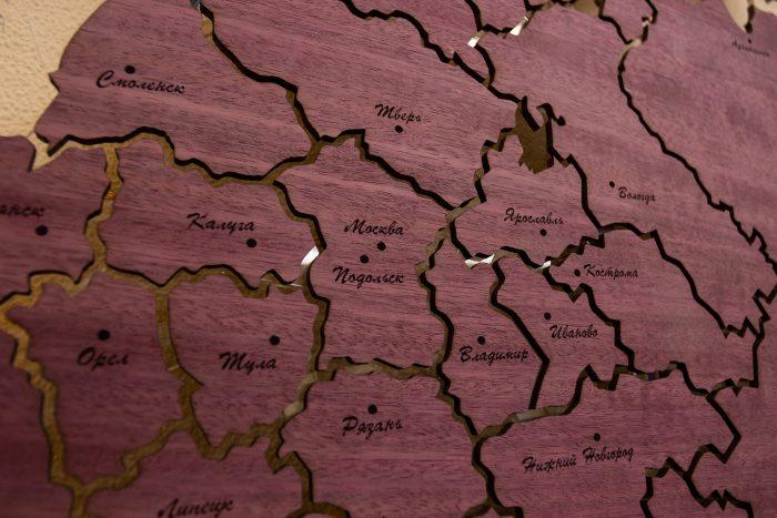 Карта России из Амаранта - европейская часть
