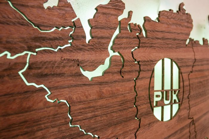 Карта России из Тайгервуда с подсветкой