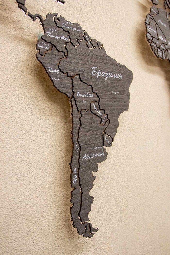 Деревянная карта из шпона Файн-Лайн Абрикос 03С с подсветкой и УФ-печатью
