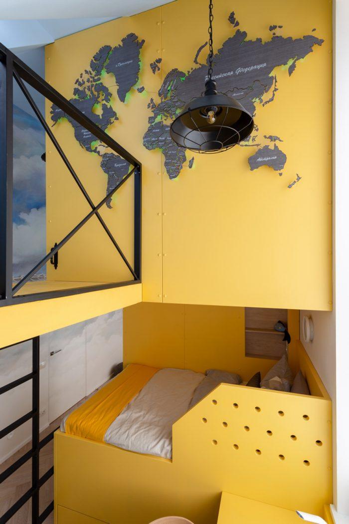 Настенная деревянная карта мира из шпона Файн-Лайн Абрикос 03C Дачный ответ