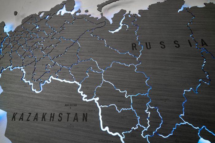 Деревянная карта России серии Elite из шпона Файн-Лайн Дуб7S Адидас
