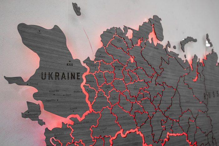 Карта России серии Elite из шпона Файн-Лайн Дуб7S Адидас